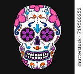 day of the dead colorful skull... | Shutterstock .eps vector #719500252
