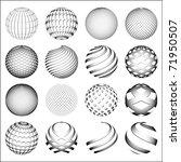 gray sphere  world globe.... | Shutterstock .eps vector #71950507
