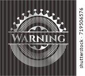 warning silver shiny badge | Shutterstock .eps vector #719506576