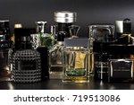 many brands of bottles of...   Shutterstock . vector #719513086