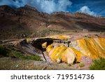 bridge inca  puente del inca ... | Shutterstock . vector #719514736