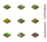 isometric road set of subway ... | Shutterstock .eps vector #719514865