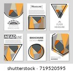 abstract vector layout... | Shutterstock .eps vector #719520595