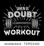 when in doubt workout... | Shutterstock .eps vector #719521102
