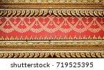ancient thai stucco pattern art ... | Shutterstock . vector #719525395