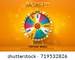 fortune wheel spinning  on... | Shutterstock .eps vector #719532826