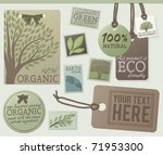 a set of green themed labels... | Shutterstock .eps vector #71953300