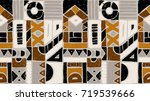 seamless vector pattern.... | Shutterstock .eps vector #719539666