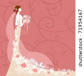 bride on pink background   Shutterstock .eps vector #71954167