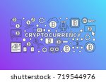 cryptocurrency colorful... | Shutterstock .eps vector #719544976