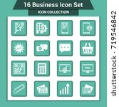 business finance icon set | Shutterstock .eps vector #719546842