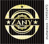 zany gold badge or emblem | Shutterstock .eps vector #719551972