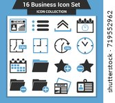 business finance icon set | Shutterstock .eps vector #719552962