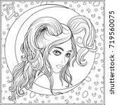 capricornus zodiac sign. a... | Shutterstock .eps vector #719560075