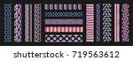 set of ethnic art brushes in... | Shutterstock .eps vector #719563612