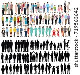 people collection  isometric... | Shutterstock .eps vector #719563642