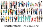 vector  people collection ... | Shutterstock .eps vector #719563672