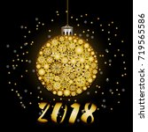 new year greeting card with... | Shutterstock .eps vector #719565586