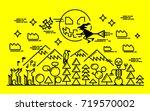 halloween background for card... | Shutterstock .eps vector #719570002