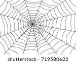 spider web background  doodle... | Shutterstock .eps vector #719580622