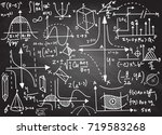 physical formulas and... | Shutterstock .eps vector #719583268
