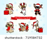 christmas and new year card... | Shutterstock .eps vector #719584732