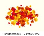 vector illustration of autumn... | Shutterstock .eps vector #719590492