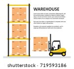 warehouse background template.... | Shutterstock .eps vector #719593186