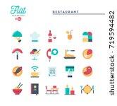 restaurant  phone ordering ... | Shutterstock .eps vector #719594482