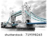 Tower Bridge On River Thames In ...