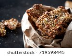 healthy cookies with different... | Shutterstock . vector #719598445
