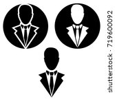 businessman vector icon. ... | Shutterstock .eps vector #719600092