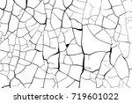 cracked paint craquelure... | Shutterstock .eps vector #719601022