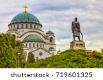 the great temple of st. sava... | Shutterstock . vector #719601325