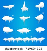 snow caps  snowballs and... | Shutterstock .eps vector #719604328