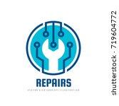 repair service vector logo... | Shutterstock .eps vector #719604772