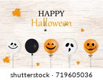 happy halloween. holiday... | Shutterstock . vector #719605036