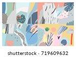 creative universal header.... | Shutterstock .eps vector #719609632
