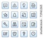 organizer icons on blue buttons. | Shutterstock .eps vector #71961265