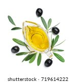 gravy boat with olive oil... | Shutterstock . vector #719614222