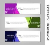 vector abstract design banner... | Shutterstock .eps vector #719632156