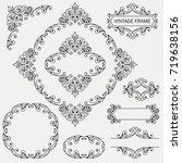 flourish border corner and... | Shutterstock .eps vector #719638156