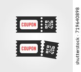 black ticket coupon icon with... | Shutterstock .eps vector #719640898