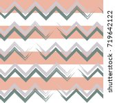 seamless irregular maze lines... | Shutterstock .eps vector #719642122