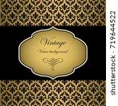 vintage frame vector background   Shutterstock .eps vector #719644522