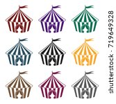 circus tent icon in black style ...   Shutterstock .eps vector #719649328