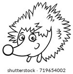black and white cartoon... | Shutterstock . vector #719654002