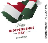 hungary independence day.... | Shutterstock .eps vector #719654596