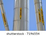 Piping for Industrial Waste Water Treatment Facility - stock photo