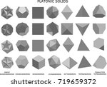 3d illustration of platonic... | Shutterstock . vector #719659372